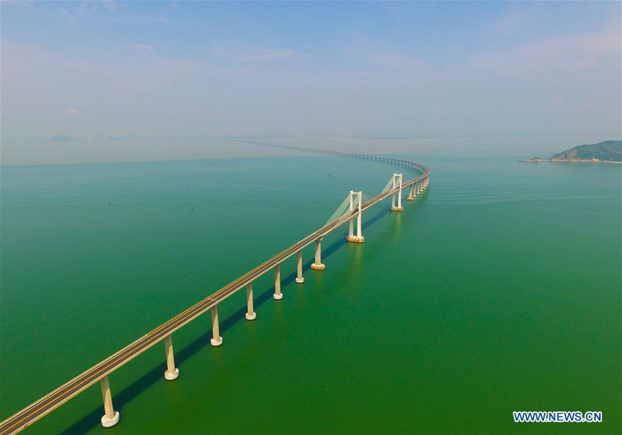 CGrand scenery of Nan'ao cross-sea bridge