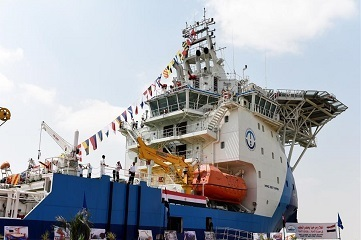 Egypt unveils China-made multi-purpose supply vessel, largest in Mideast