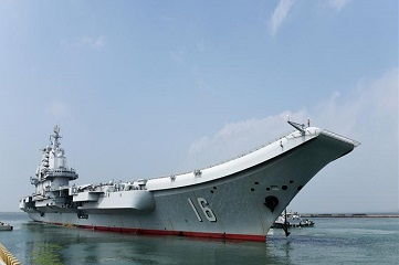 China's aircraft carrier formation sets out for training mission