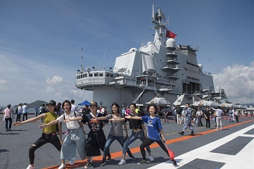 Liaoning opens for public to visit in HK
