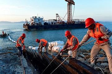 Undersea cable line laid into Meizhou Island