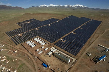New established PV power plant in Tibet