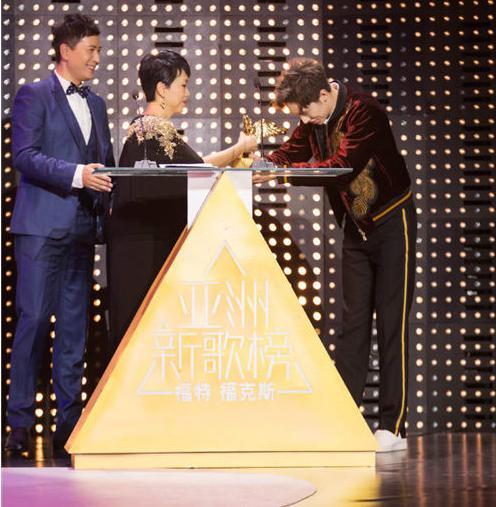 9月27日晚,亚洲新歌榜2016年度盛典在北京举行。新生代人气偶像许魏洲凭借首张个人专辑《Light》荣获年度最佳新人奖。