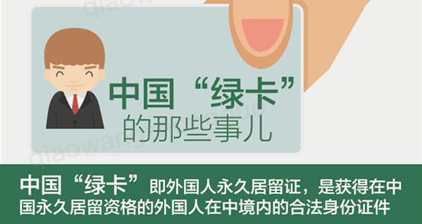 """手持中国""""绿卡""""的外国人们"""